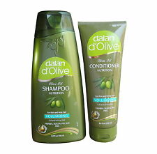 DALAN D`OLIVE OLIVE OIL VOLUMISING SHAMPOO & CONDITIONER BUNDLE - PARABEN FREE