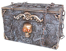 Animated Pirate Skeleton Ghost Treasure Box Halloween Prop Decoration NEW