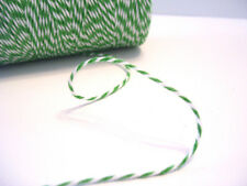 Bakers Twine Green & White 1.5mm thick X 3 Meters Card Making Scrapbooking NEW
