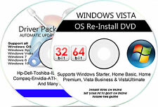 Windows Vista Home Premium Re Install Recovery Repair DVD Disk 32-Bit 64-Bit wHD