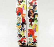 "BTY 7/8"" Disney Princess Drawings Grosgrain Ribbon Hair Bows Lisa"