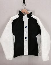 Vtg Nike Air Jacket Coat Insulated~90's Jordan Color Block~Black/White Oreo~Sz L