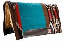 "Showman TEAL Size 32""x34"" Cutter Style Pad with Kodel Fleece and Wear Leathers!"