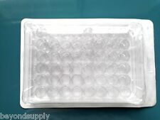 Lab Clear Plastic Rectangle Shape 96 Compartments Cell Culture Plate new