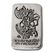 MPM Hand Poured Viking Series - Warrior With Battle Axe 5 oz .999 Silver USA Bar