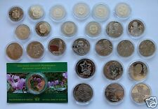 Full Set All Ukraine 2014 Non-precious Coins 2+5 Hryvnia 27 coins Sochi included