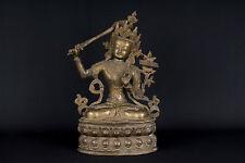 Tibet  20. Jh. A Tibetan Bronze Figure of Manjushri - Tibétain Tibetano Buddha