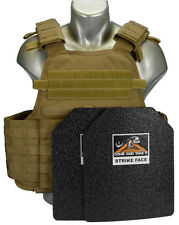 CATI Coated Body Armor COYOTE MOPC Carrier Level 3 BASE COAT PLATES AR500 F&R
