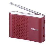 Official SONY FM / AM New handy portable radio (Red) ICF-51 R