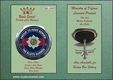 Royale Car Grill Badge + Fittings - THE SCOTS GUARDS PROUD - B2.3387