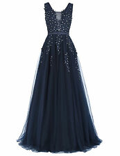 Elegant Women Bridesmaid Ball Prom Gown Formal Evening Party Cocktail Long Dress