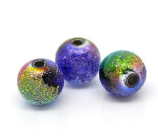 50 X Multi Coloured Acrylic Stardust Beads 8 mm 13836