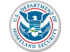 4x4 inch Round DHS Department of Homeland Security Seal Sticker -us decal  logo