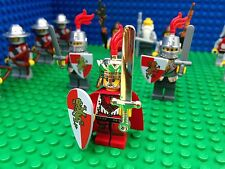 Lego Kingdoms King and Army Soldier Knights Minifigs Castle Hoods 14 Minifigures