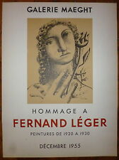 Fernand Leger affiche en lithographie exposition Maeght 1955 abstraction art