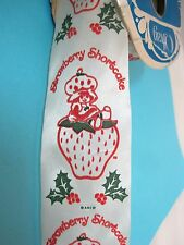 Original Strawberry Shortcake Christmas Holly Ribbon 15-20 Yards Mint Bolt  T45