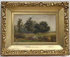 Original Framed Oil On Canvas Landscape Painting by Albert Insley (1842-1937)
