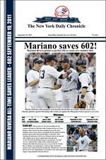 "MARIANO RIVERA SAVES #602!- COMMEMORATIVE HEADLINES POSTER - 12"" x 18"""