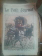 LE PETIT JOURNAL 1910  un courrier des postes sauvé par son chien