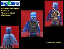 BATMAN Blackest Night DC Custom Printed LEGO Minifigure NO DECALS USED!