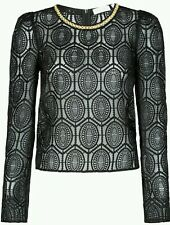Sass & Bide Brave & Stoic Embroidered & Embellished Top sz 38 RRP $590