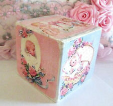 Baby Block Vintage Postcards Shelf Sitter Block BoyGirl