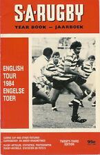 Inghilterra 1984 RUGBY TOUR PROG V provincia occidentale a Città del Capo sa ANNUARIO EDIZIONE