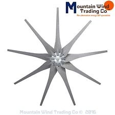 9 Gray Raptor Generation 4 wind turbine generator blades & hub made in America