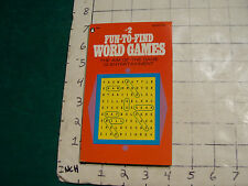 UNREAD Pinnacle 1st ed. #2 FUN-TO-FIND WORD GAMES 1974 tight clean unused