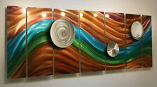 Multicolor Abstract Modern Metal Wall Art Decor Painting - Poetry Of Earth 2