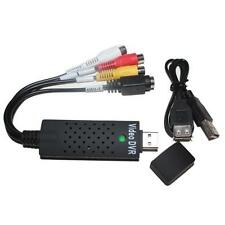 USB 2.0 Video Audio Capture Adapter TV DVD VHS Surveillance Video to Computer