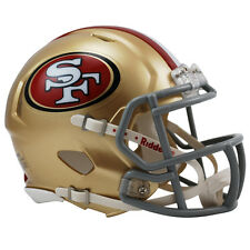 San Francisco 49ers Riddell NFL Mini Speed Replica Football Helmet
