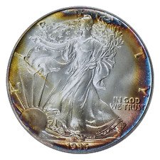 1986 $1 Silver Eagle PCGS MS68 ( Nicely Toned ) ASE Made in the USA Eagle Label.