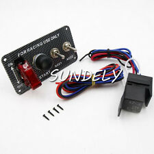 Ignition Switch Panel Engine Start Starter Push Button LED Toggle Racing Car 12V