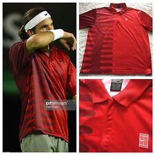 Roger Federer Nike 2002 Australian Open Shirt RARITY Large Tennis Nadal Dri-Fit