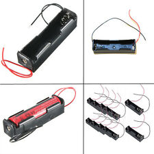 For 1x 18650 Rechargeable Battery 5pcs Plastic Battery Holder Storage Box Case