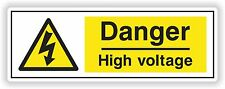 1x Electricity Safety Sticker - High Voltage - Electical Power for Door Box Car