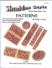 Hide Crafter Sheridan Style Leather Patterns for Belts, Billfolds 11 pg. 6000-32