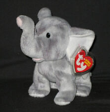 TY SHOCKS the ELEPHANT BEANIE BABY - MINT with NEAR PERFECT TAG