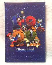 1999 NEW YEAR BUTTON DISNEYLAND SORCERER MICKEY MINNIE GOOFY DONALD PLUTO Dated