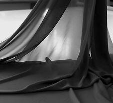 schwarz - Chiffon - zart Stoff Kleiderstoff Dekostoff