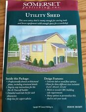1997 SOMERSET 06070 UTILITY SHED WOOD PLANS DO IT YOURSELF PATTERN 8 x 12