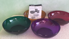 Tupperware Open House Jeweltone Bowls 4pc Set Amethyst Ruby Gold Emerald New