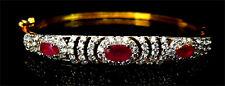 American Diamond Designers Ruby Bracelet Stunning Gold Plated 1121 2B 14