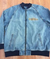 Rocawear Full Zip Light Blue Denim jacket Mens 3XL