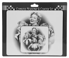 Mouse Mat Pad & Coaster Gift Set Sex Symbol Marilyn Monroe Icons Ideal Gift NEW