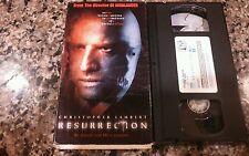 RESURRECTION RARE VHS TAPE INTERLIGHT PICTURES HORROR 1999 CHRISTOPHER LAMBERT