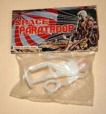 2 Vintage Dime Store Toy Plastic Astronaut Space Man Figure 1970s Nos New MOC