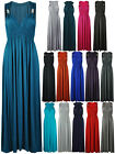 NEW LADIES LONG STRETCH WOMENS MAXI DRESS SIZE 8 - 16
