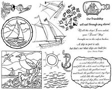 Unmounted Rubber Stamp Sheets, Nautical, Sailboat, Sayings Sailing Quotes Anchor